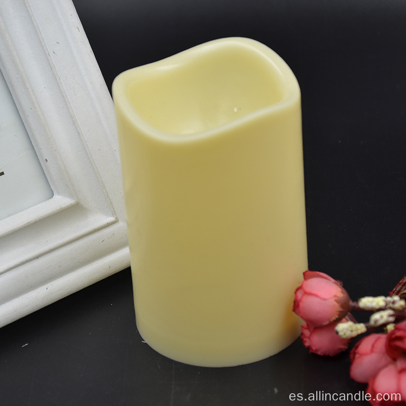 Wave top plastic shell marfil LED velas