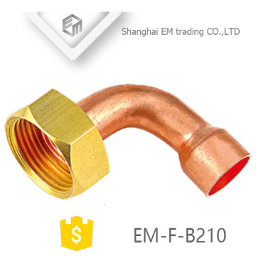 EM-F-B210 Codo de tubo de cobre con rosca hexagonal