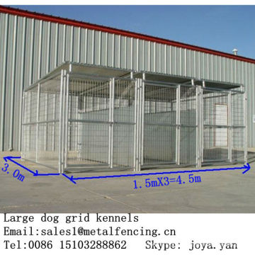 1.5mx3.0mx1.8mx3 runs Large metal anti rust dog playground equipment