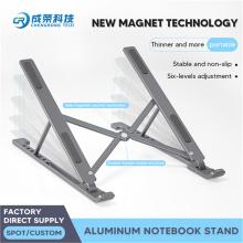 Verstellbarer Aluminium-Laptop-Tischständer mit Kühlkissen