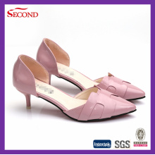 Pink Shiny PU Lady High Heels