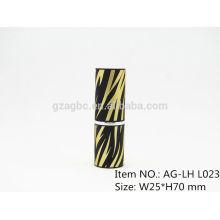 Elegante plástica redonda lápiz labial tubo contenedor AG-LH-L023, taza tamaño 11.8/12.1/12.7mm, color de encargo