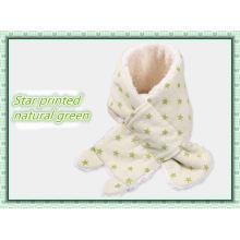 Écharpe de bébé en coton biologique chaud hiver avec de la laine imitée fabriqué en Chine