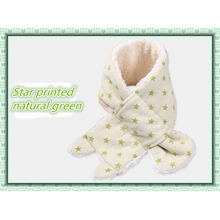 Winter Warm Organic Cotton Baby Scarf with Imitate Wool Made in China