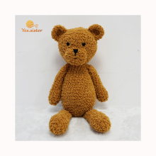 Factory Handmade Baby Crochet Toy Brown Teddy Bear