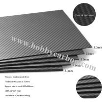 Abridor de garrafa de 2 mm em folha de fibra de carbono 3K