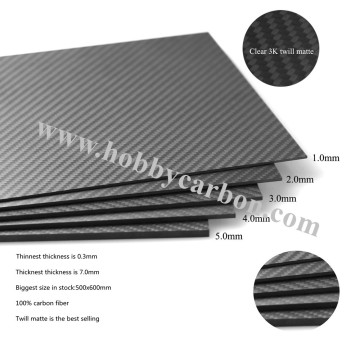 3K Carbon Fiber Sheet 2mm Flaschenöffner