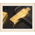 8GB Stick Shape Golden Bar USB Flash Drive (EM025)