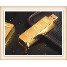 8GB Stick Forma Golden Bar USB Flash Drive (EM025)