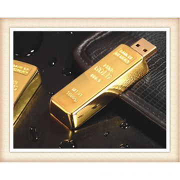 8GB Stick Forma Golden Bar USB Flash Drive (EM025)
