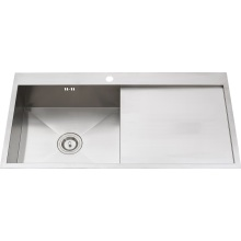 S1218 304# S. S Single Bowl Handmade Sink Topmount