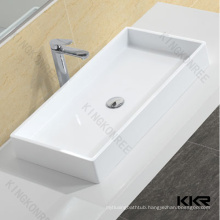 KKR above counter basin,stone trough sink,faux marble basins