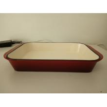 Emaillierte Gusseisen Bratpfanne Lasagne Pan