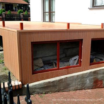 Imprägniern Sie im Freien Wpc-Holz-Plastikzusammengesetzte Wandverkleidung Wpc, die Abstellgleis ummantelt
