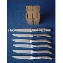 6 pcs kitchen knife block set A