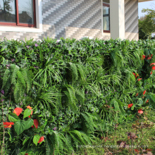 High simulated earth friendly artificial privacy hedge on gates