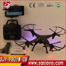 F801W CB rc drones profesionales de alta calidad con wifi FPV RC cámara drone con luz púrpura led batman verson