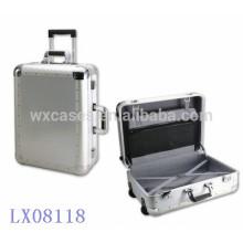 Nueva llegada--lujo fuerte y portátil de aluminio maletas por mayor fabricante