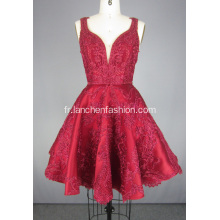 Mini Robe De Cocktail De Perles Rouges Robe De Cocktail