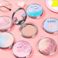 Fancy Folding Vanity Makeup Pocket Mirror for Girl