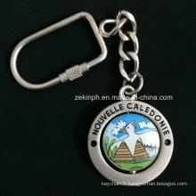 Keychain de filage en alliage de zinc adapté aux besoins du client avec la finition mate pour des cadeaux de promotion