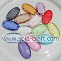 Transparent Plastic Oval Beads with two holes for Links of the Walls,Windows and Doorways