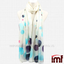 Blue Polka Dot Painted Best selling Inner Mongolia Cashmere Shawl