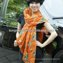 модная птица печати шарф
