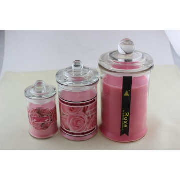Venda quente Rose Scent Glass Jar Candle