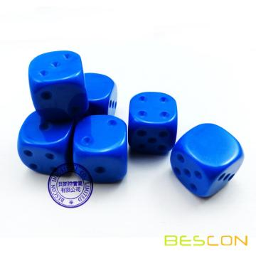 Blank Unpainted 16MM D6 Game Dice with Blank 6th Side, 4 Assorted Color Set of 24pcs, Raw Blank Cube