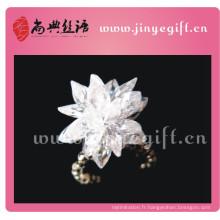 Élégant 100% artisanal Zircon fleur élastique bague le cadeau de Noël