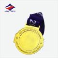 Médaille de style asiatique personnalisée dorée de Chine