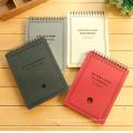 Schulnotizbuch / Studenten-Übungs-Notizbuch B5 / Papier-gewundenes Notizbuch