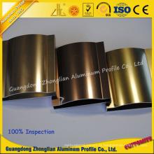 Perfil polonês de alumínio brilhante personalizado fabricante de alumínio