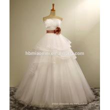 Diseño simple del verano 2016 más tela del vestido del cordón del tubo del tamaño venta al por mayor de la boda