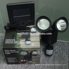 Luz de sensor de movimiento solar de seguridad al aire libre