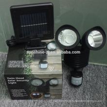 Luz do sensor de movimento solar de segurança externa