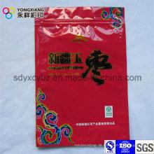 Farbe Customized Getrocknete Lebensmittel Kunststoff Verpackung Tasche mit Reißverschluss