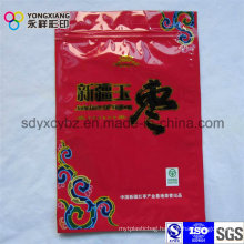 Color Customized Dried Food Plastic Packaging Bag with Zipper