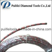 Cuerda de corte de alambre de diamante para cortar losa de mármol de piedra de cuarzo