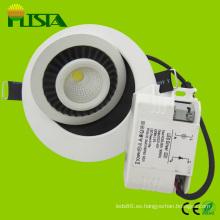 Cabeza 7W regulable LED abajo luz
