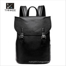 New custom men high school leather laptop bag backpack