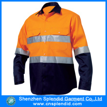 Mine Worker′s Safety 100% Cotton High Reflective Working Shirt