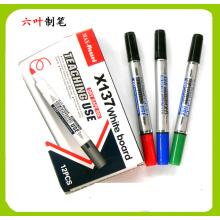 Zwei Head Whiteboard Marker Pen (X-137), Doppelkopf trocken Radiergummi Pen