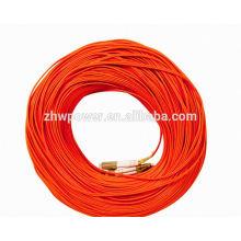 LC-LC duplex 50/125 cordon de cordon de câble de connexion à fibre optique multimode, cordon de raccordement en fibre duplex lc / upc avec faible perte d'insertion