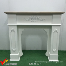 European Classic Vintage Handmade Mantle Fireplace Wood