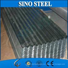 Hoja de acero acanalada galvanizada sumergida caliente de China