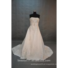 EM STOCK Off-The-Shoulder vestido de casamento sem mangas Andar de comprimento vestido de noiva SW10