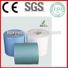 Los trapos industriales libres de la pelusa de Spunlace hacen rodar las toallitas de papel industriales