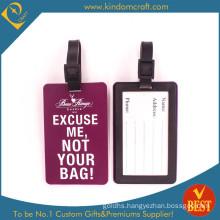 Round Shape Fashion PVC Luggage Tag (N-P06) (JN-0181)
